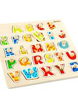 Недорогие -Деревянные пазлы Буквы Cool утонченный Взаимодействие родителей и детей деревянный 1 pcs Детские Все Игрушки Подарок