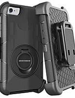 billiga -BENTOBEN fodral Till Apple iPhone 8 / iPhone 7 Stötsäker / Ringhållare / Frostat Fodral Enfärgad Hårt Silikon / PC för iPhone 8 / iPhone 7 / iPhone 6s