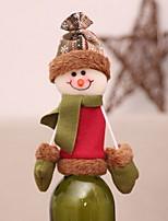 Недорогие -Мешки для вина Праздник Хлопковая ткань куб Оригинальные Рождественские украшения