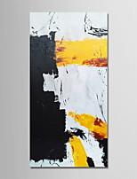 baratos -Pintura a Óleo Pintados à mão - Abstrato Modern Sem armação interna / Lona Laminada