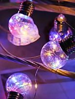 abordables -5m Guirlandes Lumineuses 10 LED Plusieurs Couleurs Décorative / Cool Alimentation Solaire