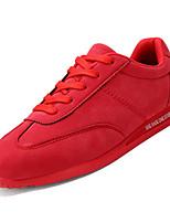 Недорогие -Муж. Комфортная обувь Свиная кожа / Полиуретан Осень На каждый день Кеды Нескользкий Черный / Серый / Красный