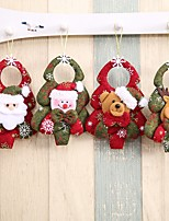 Недорогие -Аксессуары для вечеринок Рождество / Вечеринка / ужин Орнаменты Нетканые ткани Новогодняя тематика / Костюмы Санта Клауса / Elk