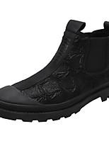 Недорогие -Муж. Армейские ботинки Полотно Наступила зима Винтаж / Английский Ботинки Сохраняет тепло Ботинки Черный