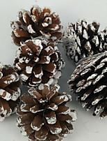 Недорогие -Праздничные украшения Рождественский декор Декоративные объекты Декоративная Кофейный 6шт
