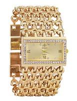 baratos -Mulheres Bracele Relógio Quartzo Calendário Cronógrafo Gravação Oca Lega Banda Analógico Luxo Fashion Prata / Dourada - Dourado Prata Um ano Ciclo de Vida da Bateria