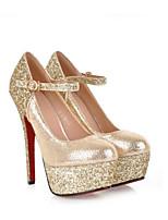 Недорогие -Жен. Балетки Замша Лето Обувь на каблуках На шпильке Золотой / Серебряный