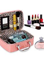 Недорогие -Место хранения организация Косметологический макияж Кожа PU Прямоугольная форма Открытая крышка