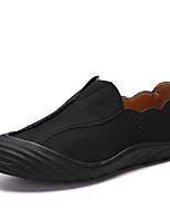 Недорогие -Муж. Комфортная обувь Кожа Осень На каждый день Мокасины и Свитер Дышащий Черный / Темно-русый / Хаки