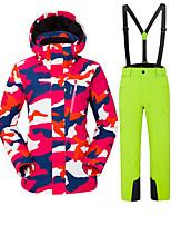 abordables -Vector Femme Veste & Pantalons de Ski Pare-vent, Etanche, Chaud Ski / Camping / Randonnée / Snowboard Polyester Pantalon / Surpantalon / Pantalon de bavoir de neige / Hauts / Top Tenue de Ski / Hiver