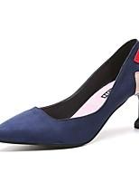 baratos -Mulheres Stiletto Couro Ecológico Outono Saltos Salto Agulha Dedo Apontado Preto / Azul Escuro / Festas & Noite / Festas & Noite