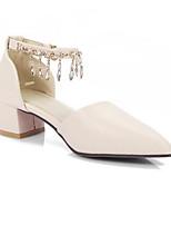 abordables -Femme Chaussures de confort Polyuréthane Eté Chaussures à Talons Talon Bottier Noir / Beige / Rose / Mariage / Quotidien