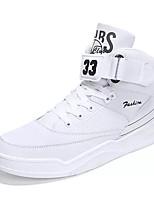 Недорогие -Муж. Комфортная обувь Полиуретан Осень Кеды Белый / Черно-белый / Черный / Красный