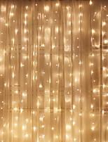 Недорогие -6м Гирлянды 600 светодиоды Тёплый белый Декоративная 220-240 V 1 комплект