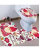 Недорогие -3 предмета На каждый день Коврики для ванны 100 г / м2 полиэфирный стреч-трикотаж Креатив Прямоугольная Ванная комната Творчество