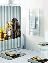 Недорогие -1 комплект Modern Коврики для ванны 100 г / м2 полиэфирный стреч-трикотаж Геометрический принт нерегулярный Ванная комната Cool