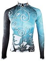 Недорогие -ILPALADINO Жен. Длинный рукав Велокофты - Небесно-голубой Мода Велоспорт Верхняя часть Зима, Эластан