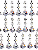 abordables -20pcs 30mm diamant cristal boule de verre lustre prismes pendentifs pièces perles