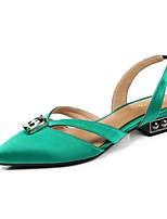 abordables -Femme Chaussures de confort Satin Printemps été Chaussures à Talons Block Heel Noir / Rouge / Vert