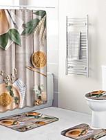 billiga -1set Moderna Duschmattor 100g / m2 Polyester Stretch Kreativ Rektangulär Badrum Häftig