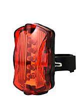 Недорогие -Задняя подсветка на велосипед Светодиодная лампа Велосипедные фары Велоспорт Водонепроницаемый, Быстросъемный, Легкость Литий-ионная 50 lm AAA-батарея Красный