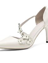 Недорогие -Жен. Комфортная обувь Овчина Лето Обувь на каблуках На шпильке Белый / Розовый / Свадьба / Повседневные