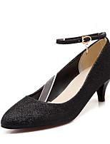 Недорогие -Жен. Комфортная обувь Полиуретан Весна Обувь на каблуках На шпильке Золотой / Черный / Серебряный