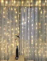baratos -3M Cordões de Luzes 300 LEDs Branco Quente Decorativa 220-240 V 1conjunto