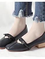 Недорогие -Жен. Комфортная обувь Искусственная кожа Осень Обувь на каблуках На толстом каблуке Черный / Бежевый / Верблюжий