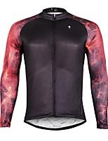 Недорогие -ILPALADINO Муж. Длинный рукав Велокофты - Черный Мода Велоспорт Верхняя часть Зима, Эластан