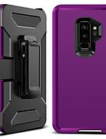 Недорогие -BENTOBEN Кейс для Назначение SSamsung Galaxy S9 Plus Защита от удара / Матовое / Wireless Charging Receiver Case Кейс на заднюю панель Однотонный Твердый ТПУ / ПК для S9 Plus