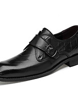 cheap -Men's Formal Shoes Nappa Leather Spring & Summer / Fall & Winter Casual / British Loafers & Slip-Ons Non-slipping Black / Brown