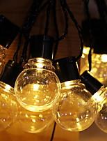 abordables -5m Guirlandes Lumineuses 30 LED Blanc Chaud Solaire / Décorative Alimentation Solaire 1 set