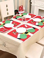 Недорогие -Аксессуары для вечеринок Рождество / Вечеринка / ужин Хранение посуды Нетканые Новогодняя тематика / Костюмы Санта Клауса / Креатив