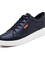 Недорогие -Муж. Комфортная обувь Полиуретан Осень Кеды Белый / Черный / Синий