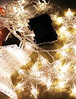 Недорогие -2,5м Гирлянды 138 светодиоды Тёплый белый Декоративная 220-240 V 1 комплект