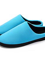 Недорогие -Жен. Комфортная обувь Хлопок Зима На каждый день / Минимализм Тапочки и Шлепанцы На плоской подошве Круглый носок Черный / Серый / Синий