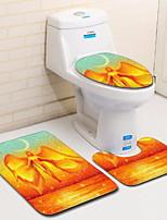 Недорогие -3 предмета Modern Коврики для ванны 100 г / м2 полиэфирный стреч-трикотаж Креатив нерегулярный Ванная комната Cool