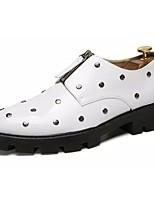 Недорогие -Муж. Комфортная обувь Полиуретан Осень Туфли на шнуровке Белый / Черный / Красный / Для вечеринки / ужина