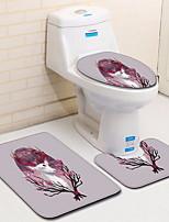 Недорогие -3 предмета Традиционный Коврики для ванны 100 г / м2 полиэфирный стреч-трикотаж Животное Прямоугольная Ванная комната Новый дизайн