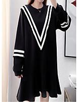 Недорогие -женский выпускной свитер / сменное платье длиной до колен экипажа