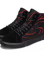 Недорогие -Муж. Комфортная обувь Полиуретан Осень На каждый день Кеды Нескользкий Контрастных цветов Черно-белый / Черный / Красный