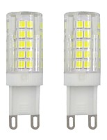 baratos -2pcs 3 W 245 lm G9 Luminárias de LED  Duplo-Pin T 64 Contas LED SMD 2835 Decorativa Branco Quente / Branco Frio 220-240 V