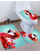 Недорогие -1 комплект На каждый день Коврики для ванны 100 г / м2 полиэфирный стреч-трикотаж Новинки Прямоугольная Ванная комната Милый