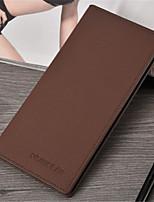 Недорогие -Муж. Мешки PU Бумажники Сплошной цвет Черный / Кофейный / Коричневый