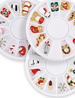 billiga -12 pcs Paljetter Bästa kvalitet Jul nagel konst manikyr Pedikyr Jul Romantisk