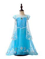 Недорогие -Дети / Дети (1-4 лет) Девочки Однотонный С короткими рукавами Платье
