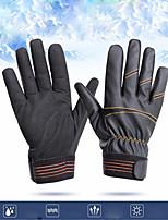 Недорогие -Спортивные перчатки Перчатки для велосипедистов Дышащий / Противозаносный / Защита от солнечных лучей Полный палец Кожа PU / Ткань для подбивки / Эластан