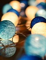 Недорогие -3M Гирлянды 20 светодиоды Синий Декоративная 220-240 V 1 комплект