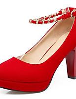 abordables -Femme Escarpins Daim Printemps Chaussures à Talons Talon Bottier Noir / Rouge